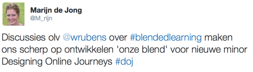 Tweet tweedaagse blended learning