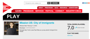 Game City of Immigrants