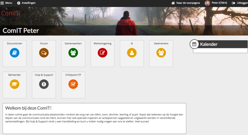 Screendump demo omgeving ComIT